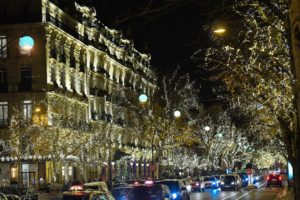 Christmas lights Paris avenue Montaigne